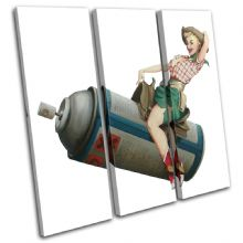 Cowgirl Banksy Painting - 13-0798(00B)-TR11-LO